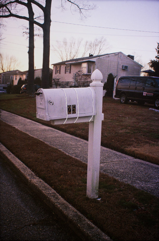 Wire Tied Mailbox, 2019. Color Film (with flash). 25 x 34 in. 3D Pen.